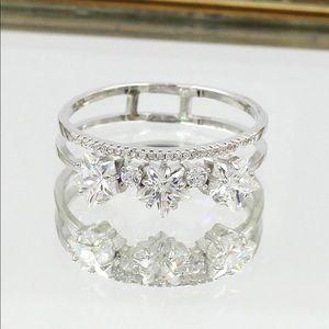 Ocean Fashion Jewelry - Fashion little star crystal ring